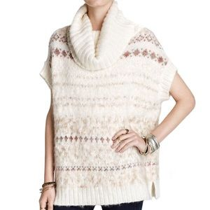 Free People Snow Bunny Fair Isle Pullover Sweater